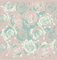cute seamless pattern with roses vector image