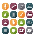 Tailor icons for sewing vector image