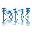 dancing harlequins vector image