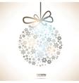 Christmas Snowflake Bauble vector image vector image