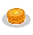 Breakfast Sweet Pancake Icon in Modern Flat Style vector image vector image