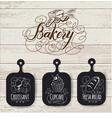 bakery menu design and bakery hand drawn vector image
