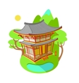 Bright flat Asian traditional vector image