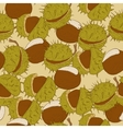 Chestnut Seamless Background vector image