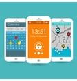Flat Mobile UI Design vector image