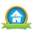 Gold for rent logo vector image