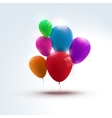 Holidays balloons red blue pink orange green vector image