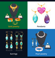 jewelry shop with different luxury accessories vector image