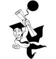 Male graduate clipart vector image