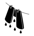 pants drying icon simple style vector image