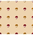 Seamless pattern background with skulls vector image