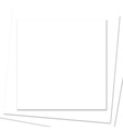 Stacked Square White Paper Frame vector image