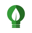 leaf bulb ecology nature save icon graphic vector image
