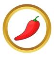 Red chilli pepper icon vector image