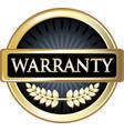 warranty gold icon vector image vector image
