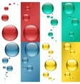 Colored Drops vector image vector image
