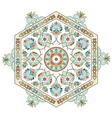 artistic ottoman pattern series one vector image