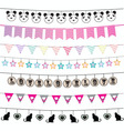 Colorful bunting and garland design set vector image