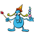 cartoon funny fantasy character vector image