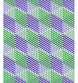 Colorful abstract geometric seamless 3d pattern vector image