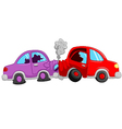 Cartoon car accident vector image