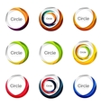 Set of abstract swirls and circles logo vector image vector image