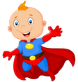 915Super hero boy posing vector image
