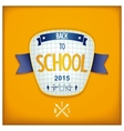 Back to school 3D badge vector image
