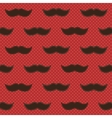 Background with mustaches vector image