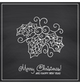 Christmas collection Icons with mandala ornament vector image