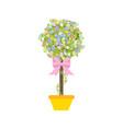 easter egg tree vector image