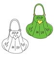 Hand drawn doodle handbag vector image