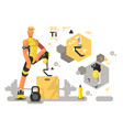 prostheses for sport and fitness vector image