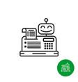 robotic cash register icon vector image