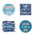 happy labor day sale set of badges and labels vector image