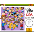 counting education game cartoon vector image