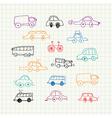 Cars doodles set vector image vector image