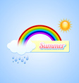 Summer button vector image