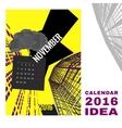 Calendar 2016 abstract template 01 A-03 vector image