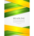 Yellow and green stripes abstract vector image