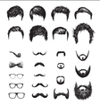 Set of different Hipster haircuts beards glasses vector image vector image