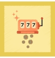 flat shading style icon slot machine winnings vector image