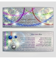 abstract silver Christmas and New Year Greeting or vector image