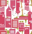 cityscape pattern vector image