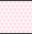 creative valentines pink leaf pattern background vector image
