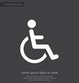 cripple premium icon white on dark background vector image