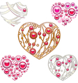 Jewerly hearts vector image