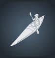 kayaking logo icon vector image