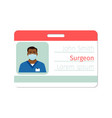 surgeon medical specialist badge template vector image