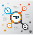 tools icons set collection of meter hammer vector image